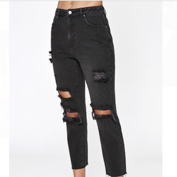 d144033be6b 2019 2017 New Fashion Denim White Jeans Women Hole Stretch Cotton Ripped  Black Jeans Skinny Boyfriend Womens Loose Plus Size Ripped Pencil Jeans From  …